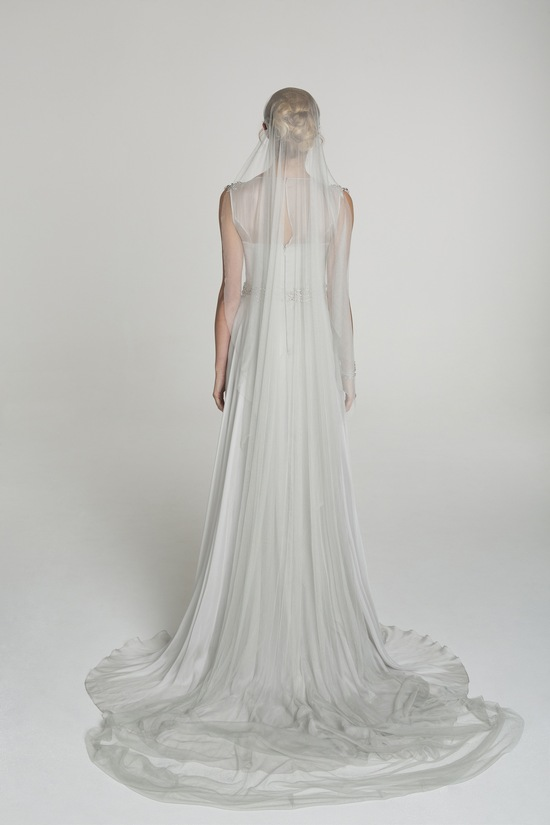 Illusion neckline wedding dress from Alana Aoun