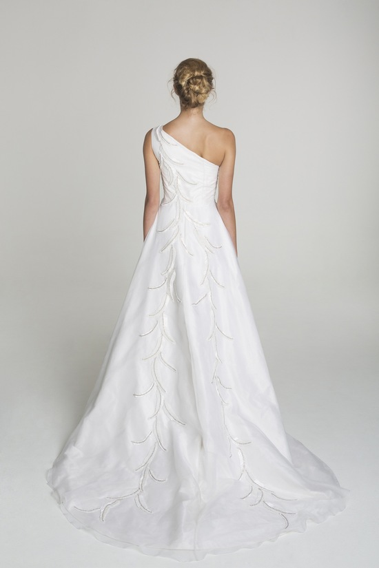 One shoulder wedding dress from Alana Aoun