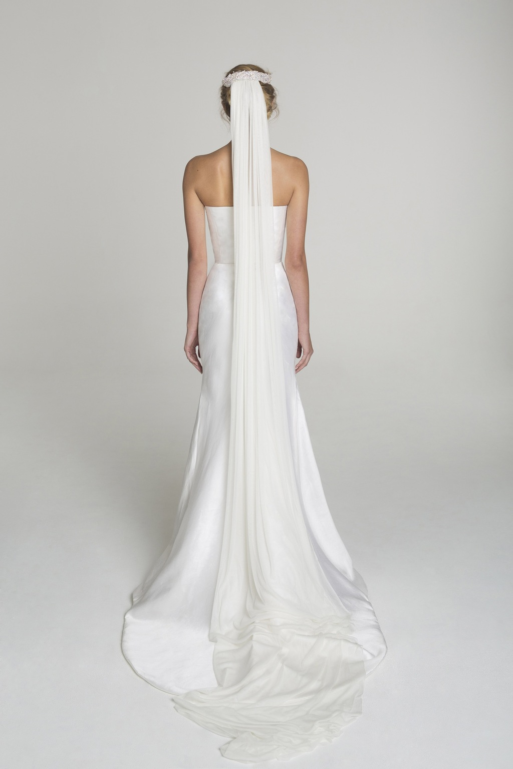 Strapless wedding dress from Alana Aoun