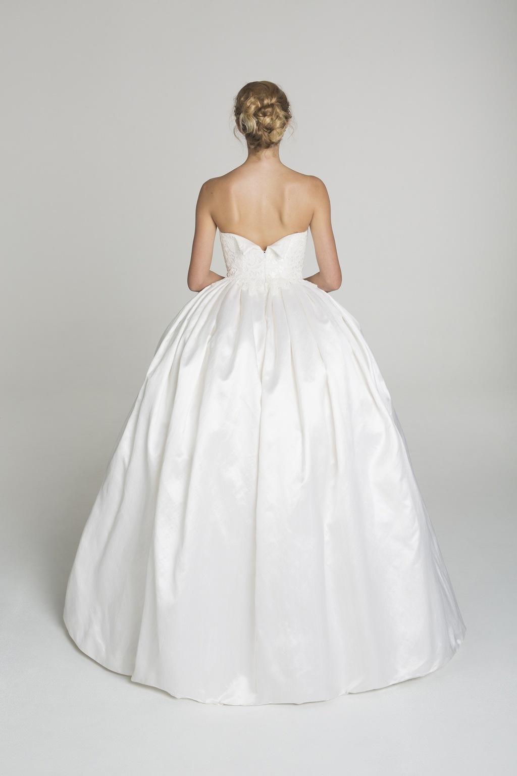Simple Ball Gown Wedding Dress From Alana Aoun Backfull