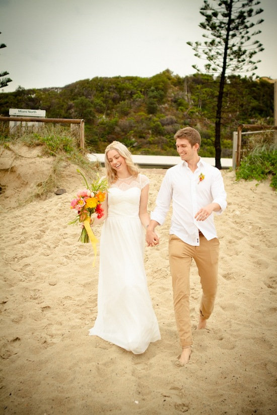 Australian elopement on the beach