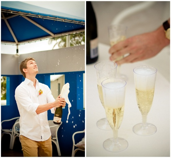 Champagne celebration for an Australian elopement