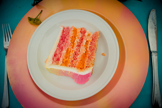Colorful cake for an Australian elopement