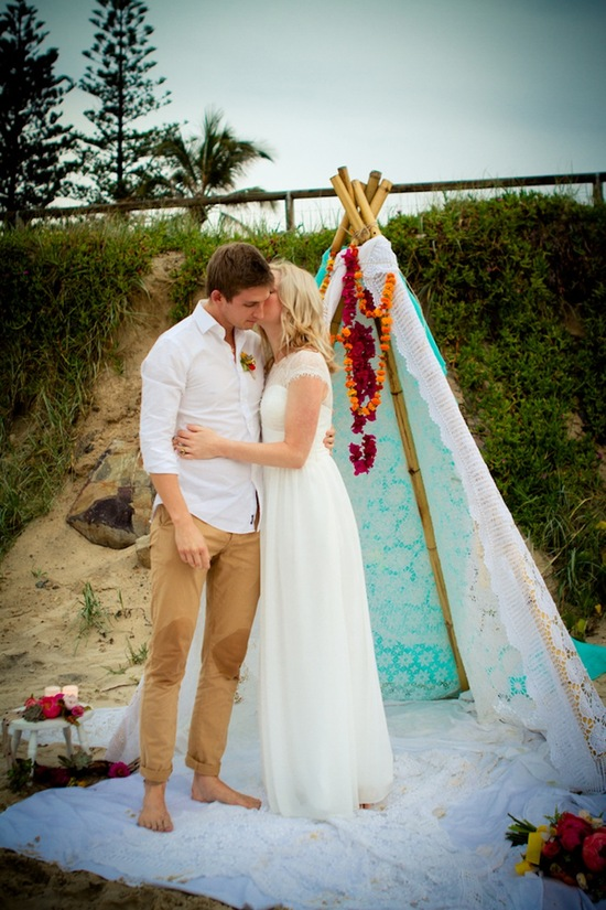 photo of Toes in the Water, Wedding in the Sand…
