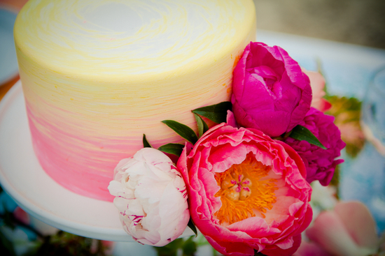 Simple ombre wedding cake