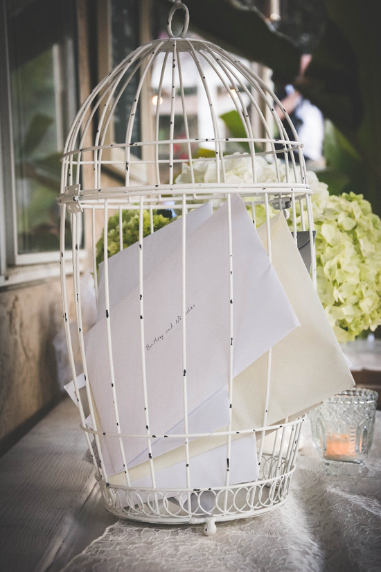 Rustic Bird Cage Card Holder