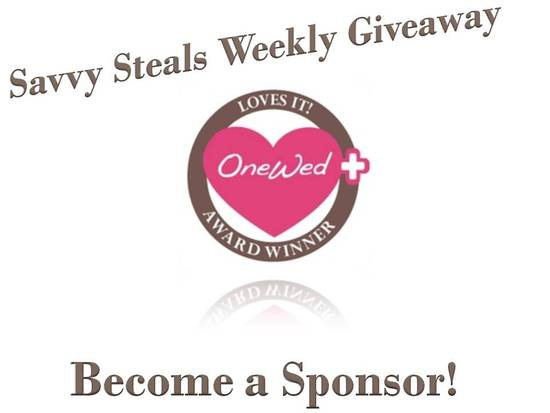 photo of Weekly Wedding Giveaway: Sponsor a Savvy Steal!