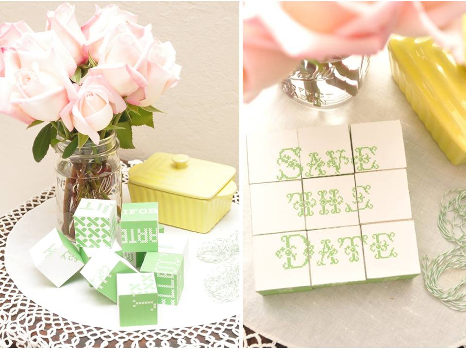 DIY unique wedding save-the-dates- wood blocks to build ...