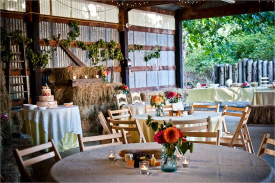 Rustic chic with a vintage vibe wedding reception venue