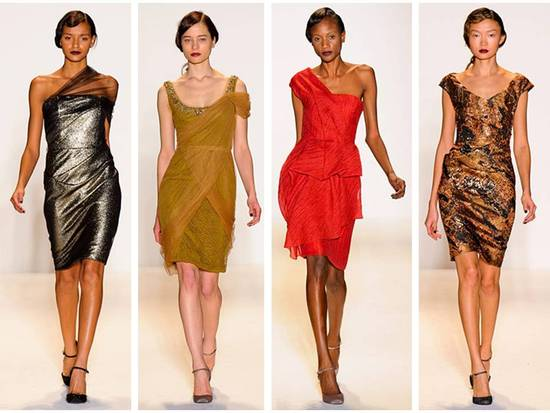 Chic Fall 2011 Lela Rose dresses from New York Fashion Week