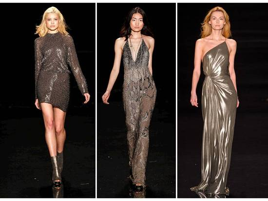 Chic metallic gowns by Jenny Packham- definitely on-trend for 2011