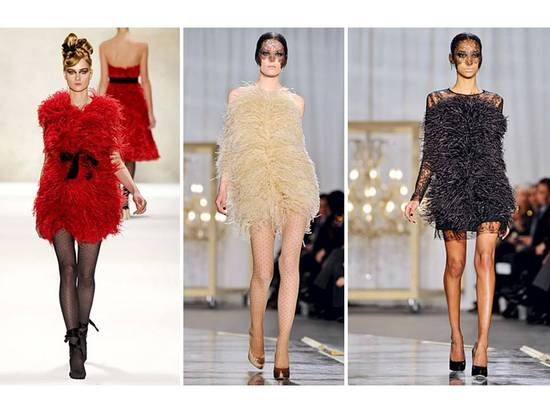 Monique Lhuillier and Jason Wu included mini feather frocks in Fall 2011 collections
