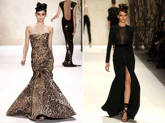 Monique Lhuillier Fall 2011 RTW gowns from New York Fashion Week