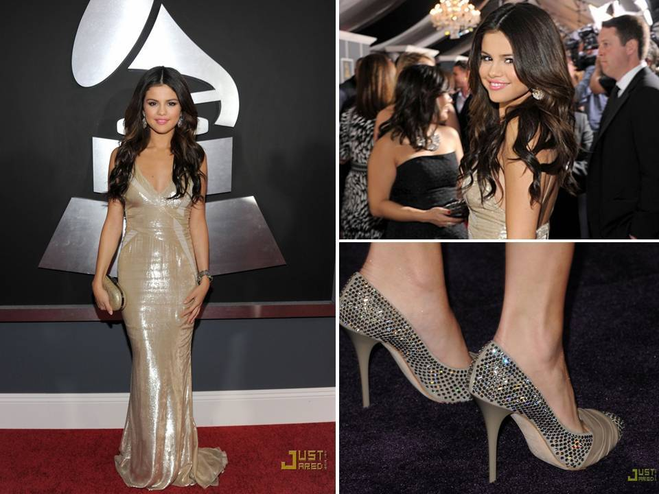 Selena-gomez-gold-gown-2011-grammys-bridal-style-inspiration-wedding-shoes.full