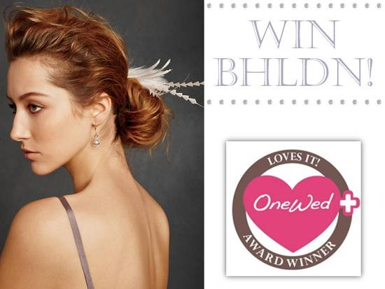 Be one of the first brides to don a BHLDN bridal piece, win this week's Savvy Steal giveaway!