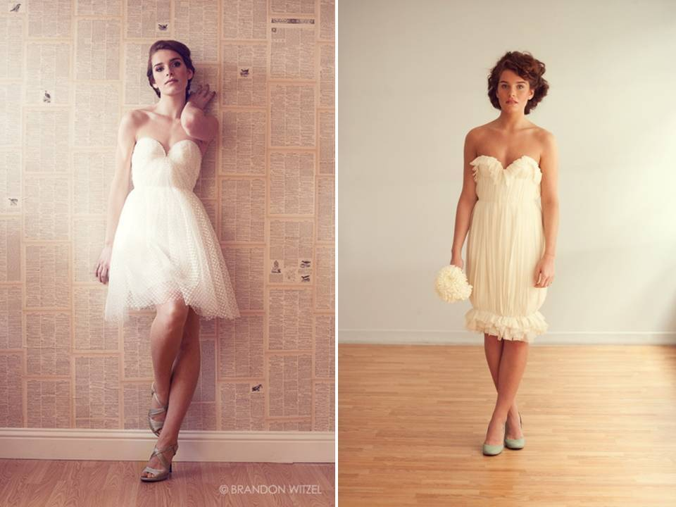 Eco friendly wedding reception bridal gowns with ruffle for Sarah seven used wedding dress