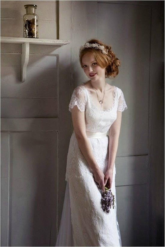 Wedding gown by Sally Laycock