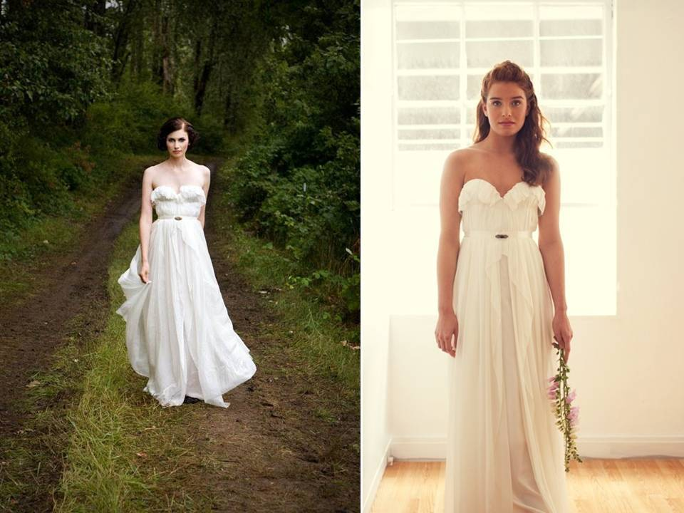c96e2fa186a Romantic sweetheart neckline eco-chic wedding dress with bridal belt