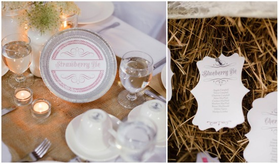 Pie escort cards and place cards