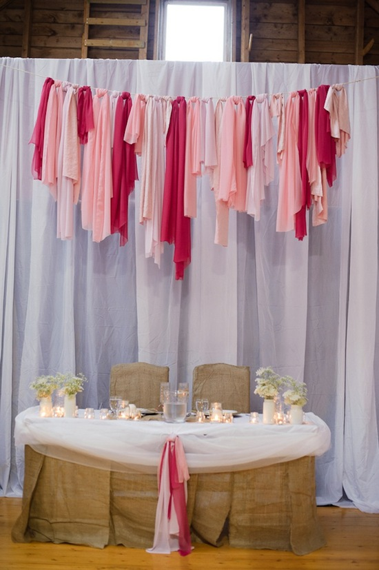 Pink couples table