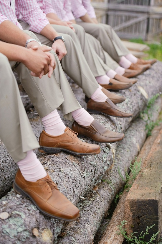 Rustic groomsmen shoes