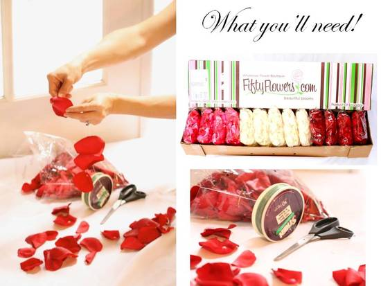 Buy bulk rose petals to bring romance to your wedding day