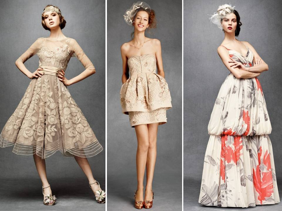 vintage-inspired bridesmaids&-39- dresses by BHLDN