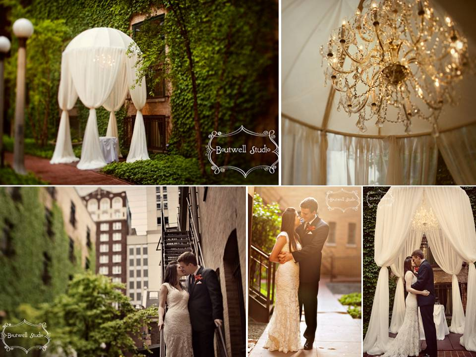 Stunning outdoor chicago wedding venue covered in ivy for Places for outdoor weddings