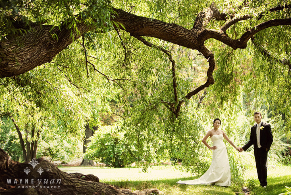 Outdoor garden wedding venue for New York brides Brooklyn Botanic