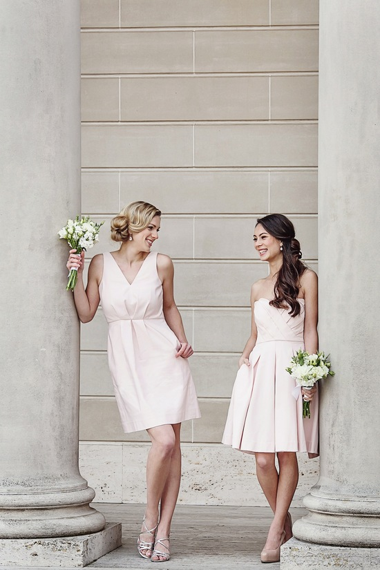 Blush bridesmaids dresses by Weddington Way