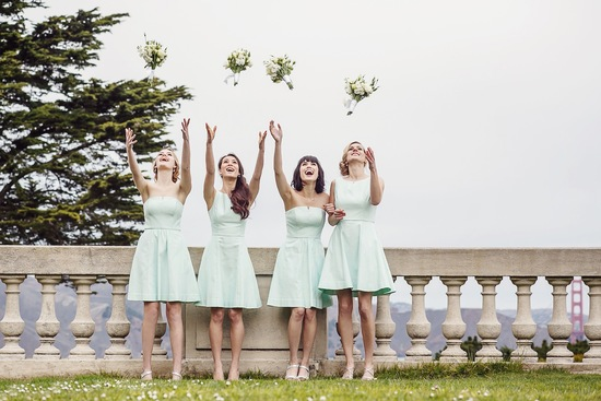 Mint bridesmaids dresses by Weddington Way