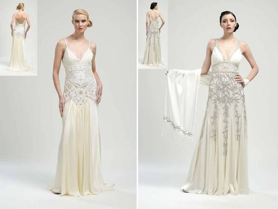 1920's-inspired Sue Wong 2011 wedding dresses with gorgeous beading