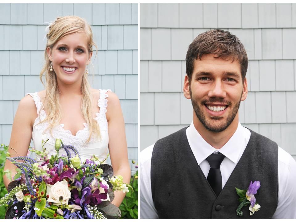 Bride-wears-v-neck-lace-wedding-dress-statement-bridal-bouquet.full
