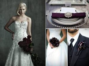 photo of Dramatic, Romantic, Dark Wedding Style for Valentine's Day and Beyond