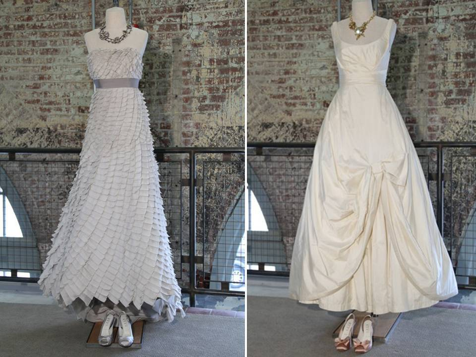 Lovely ivory a-line strapless wedding dresses from Urban Outfitter's new Bhldn line