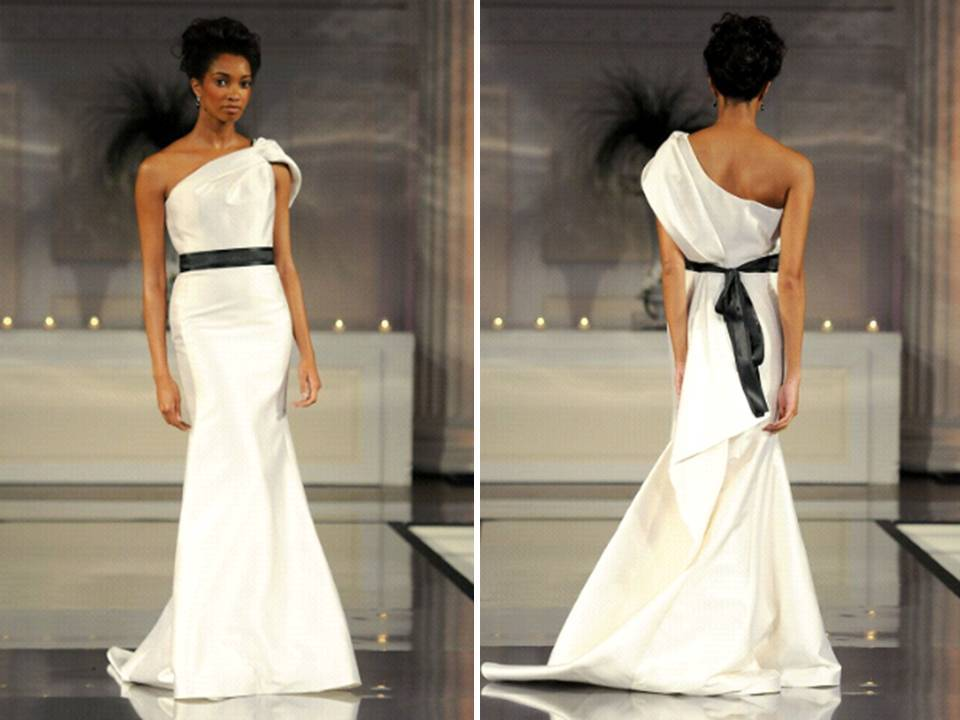 2011-wedding-dress-ivory-mermaid-one-shoulder-black-bridal-sash-david-meister-3_0.full