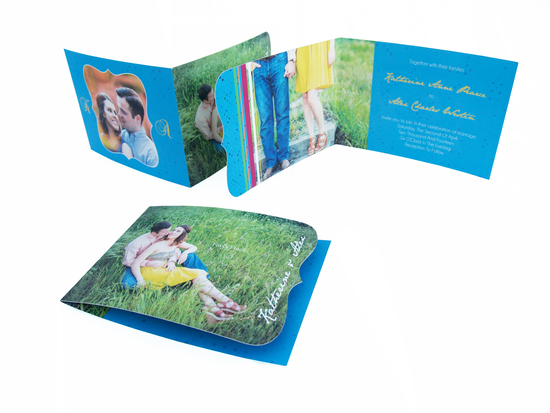 Folding Die Cut Invitation with Photos