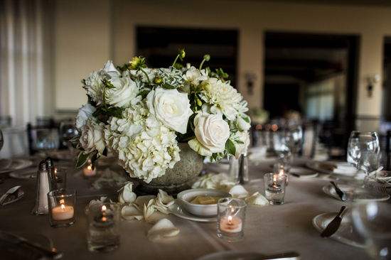 Black tie reception centerpieces