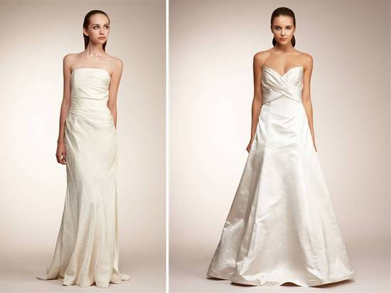 Classic ivory Monique Lhuillier wedding dresses
