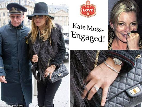 Kate Moss is engaged; 1920's vintage engagement ring