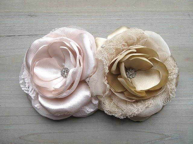 Stunning Handmade Silk Wedding Hair Flowers