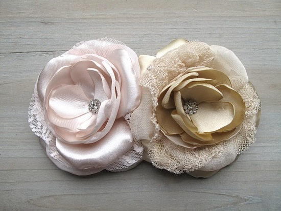 Stunning handmade silk wedding hair flowers