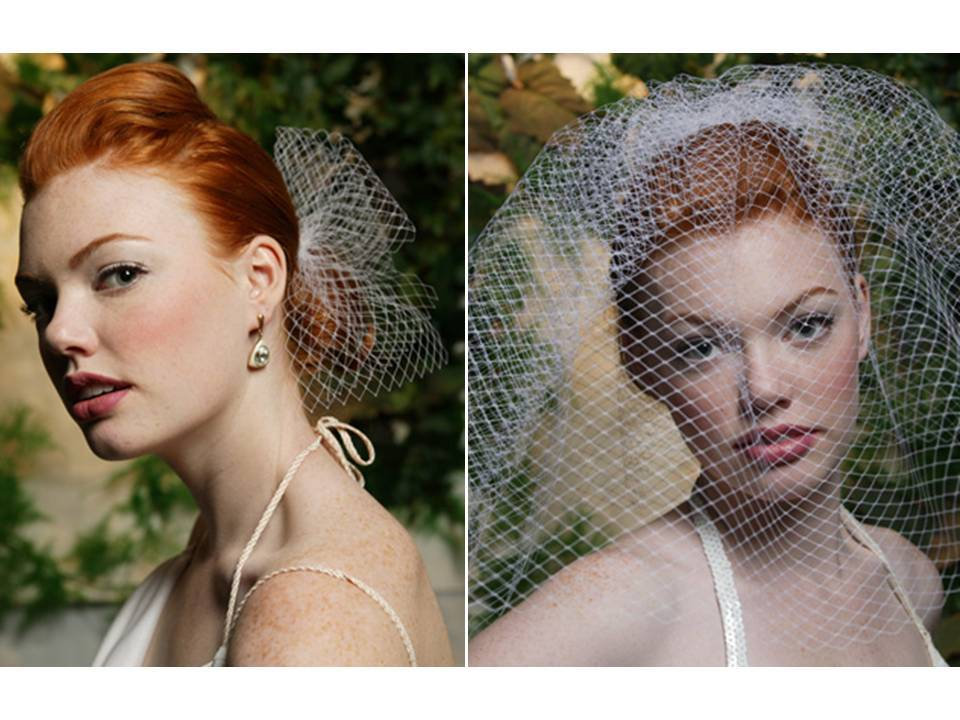 Classic French net bridal veils for timeless bridal style