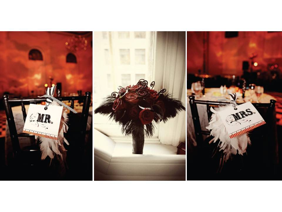 Old-hollywood-glam-theme-weddings-vintage-feathers-wedding-reception-decor-centerpiece-bridal-bouquet.full