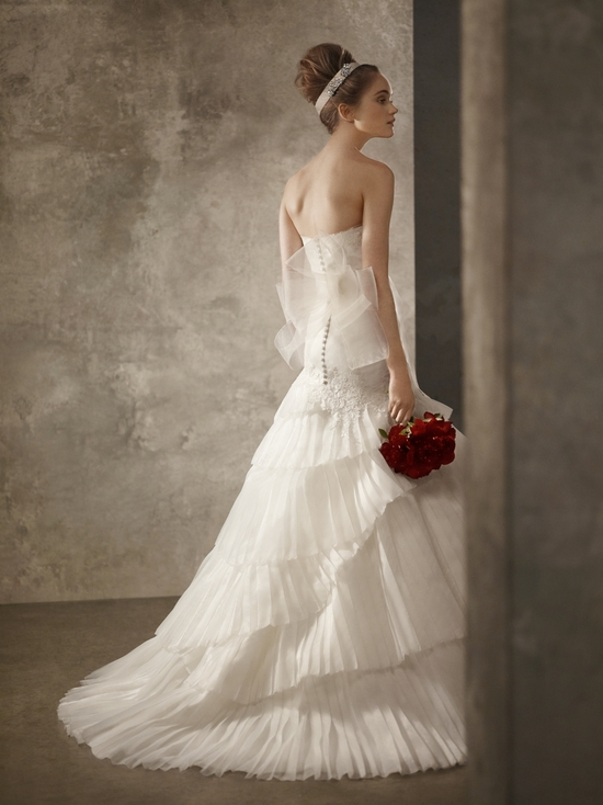Romantic ivory a-line lace wedding dress from first White by Vera Wang collection