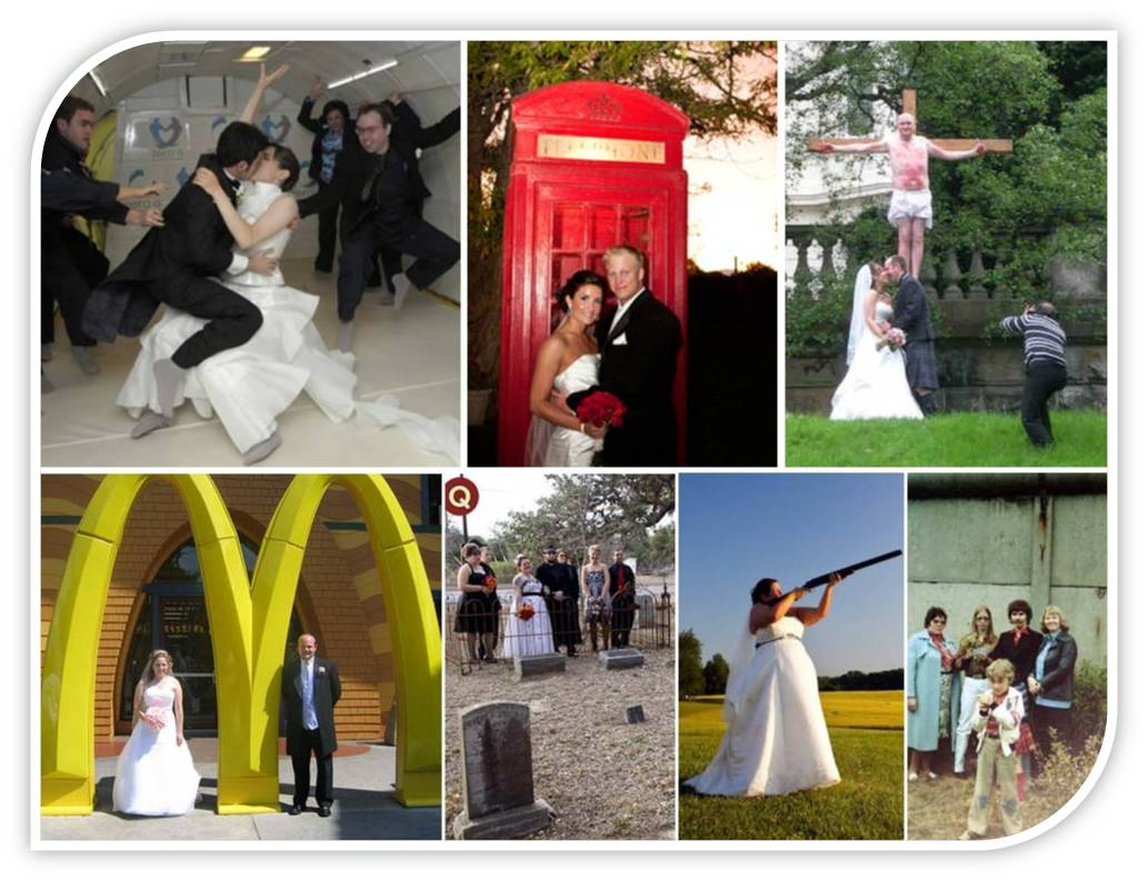 Weird Wedding Venues- McDonald's, A Phone Booth, In Space