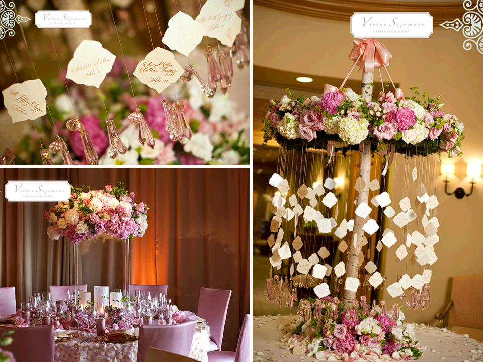 Romantic And Whimsical Wedding Reception Escort Table