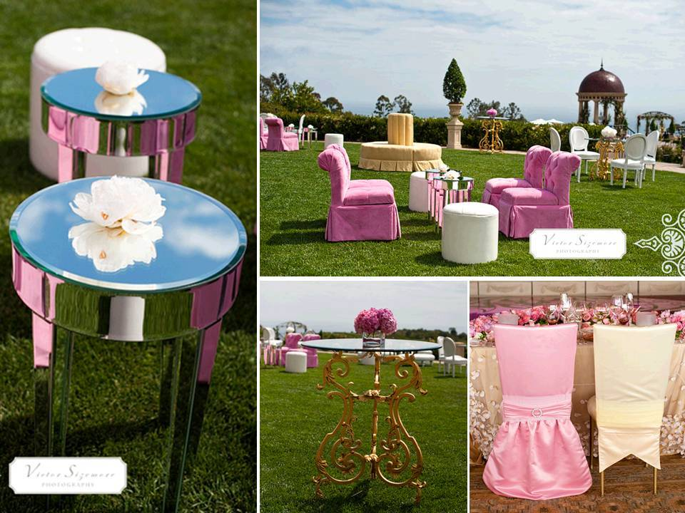 Whimsical Outdoor Setup For Pre Reception Cocktail Hour