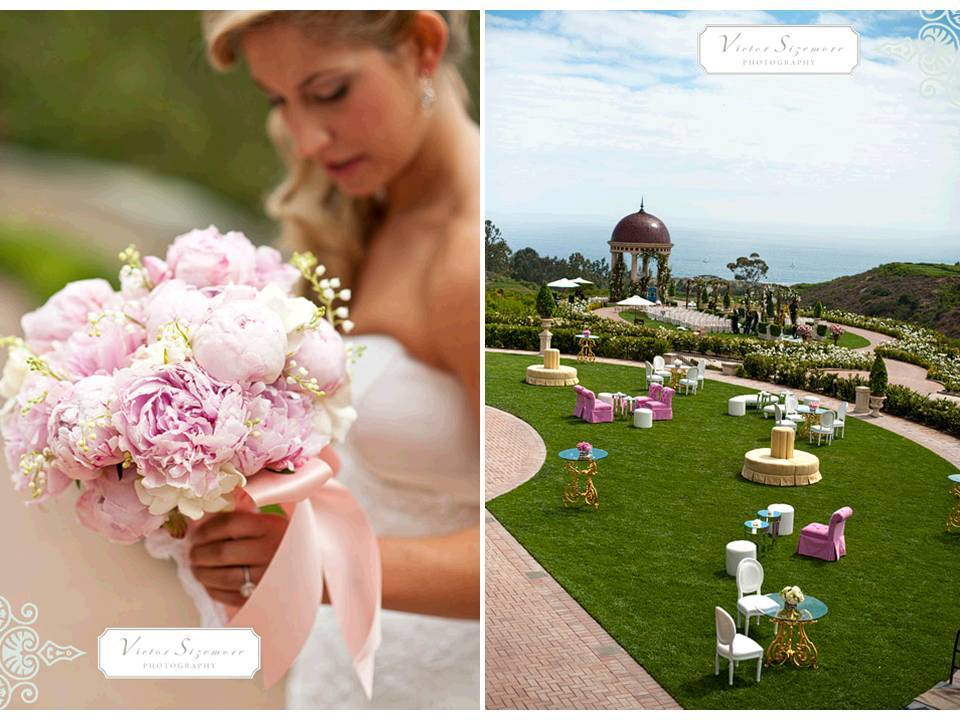 Luxe-outdoor-california-wedding-romantic-pink-ivory-peony-bridal-bouquet.full