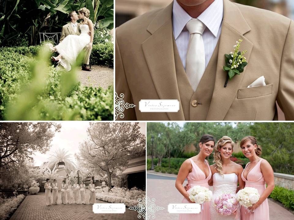 Romantic-real-wedding-outdoor-venues-enchanted-garden-style-khaki-grooms-suit.original